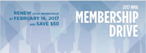 Renew your Membership by February 16, 2017 and Save $50